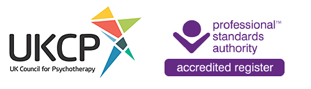UKCP and Professional Standards Authority register logos
