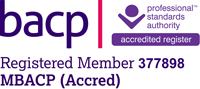 BACP accedited member logo - Andrew Kidd