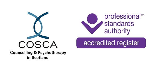 COSCA logo and PSA accreditation mark